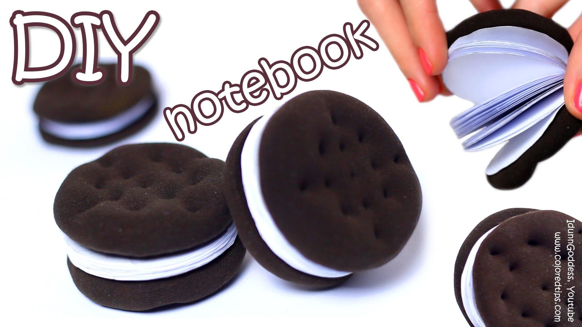 How To Make Oreo Notebook - DIY Chocolate Sandwich Cookies Notebook Tutorial