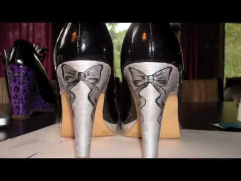 How to paint your shoes—heels