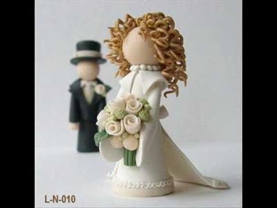 """Li'l Newlyweds"" Wedding Cake Toppers by Subtle Details"