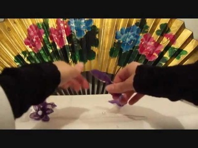 Mock Kanzashi Ribbon Flowers