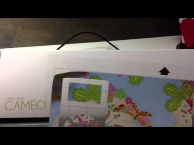 MY FIRST SILHOUETTE CAMEO CUT & A TIP WHEN LOADING YOUR MAT