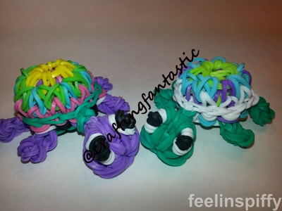 OFFICIAL ONE LOOM Kaleidoscope Turtle Tutorial by feelinspiffy (Rainbow Loom)