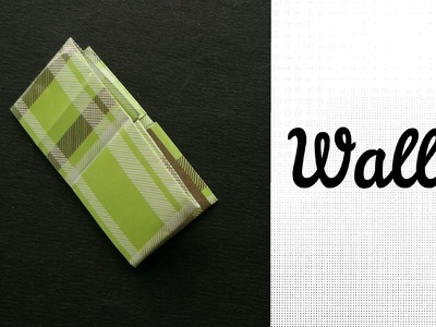 Origami Paper Wallet - For beginners !!