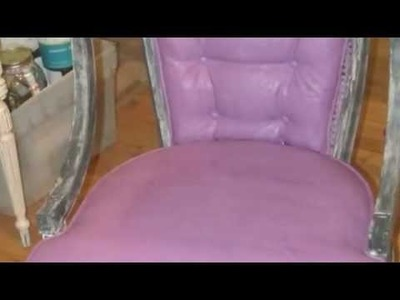 Painting a chair with cece caldwell's chalk and clay paints