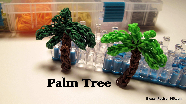 Palm Tree Charm - How to Rainbow Loom design