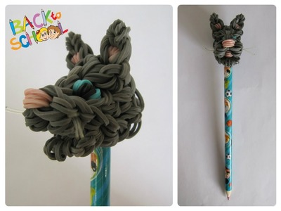 Rainbow Loom cat pencil topper Loombicious