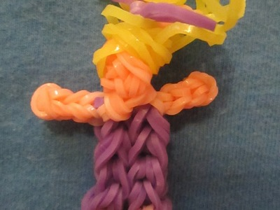 Rainbow Loom Mini Girl Charm.