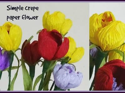 Simple crepe paper flower - diy