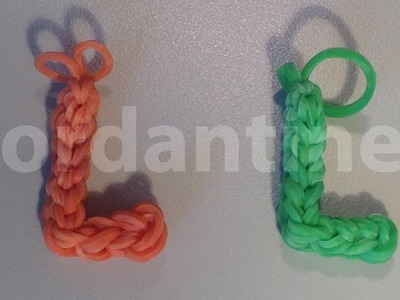 Skinny Letter L Alphabet Charm  - Rainbow Loom, Crazy Loom