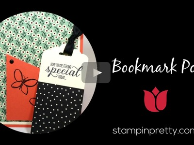 Stampin' Up! Tutorial: How to Create a Bookmark Pocket