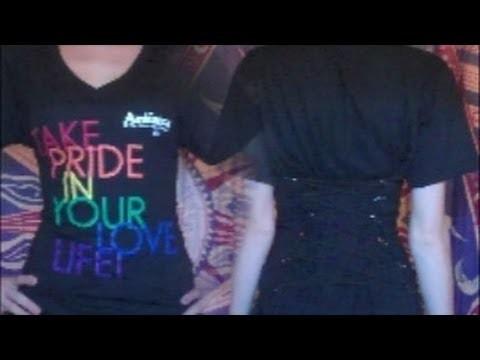 """T-shirt Recon: No Sew, No Cut """"Comfort Corset"""""""