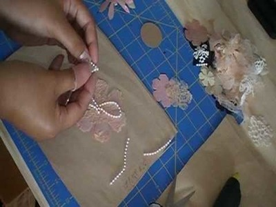 Thepiecebypiece:  Fabric flowers made by using Tim Holtz Flower Die