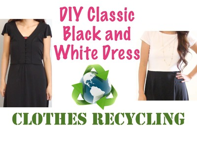 Thrifted Transformations,  DIY Classic Black and White Dress