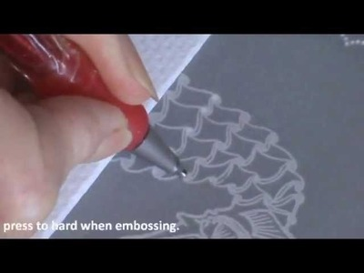 Video Class 3   How to Emboss a Stamped Image Seahorse Card