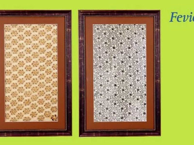 Wall frame with a Zardosi look