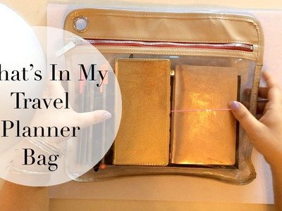 What's In My Travel Planner Bag | How I Stay Organized. Journal on Long Trips