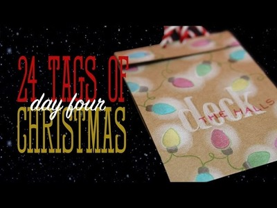 24 Tags of Christmas: Glowing lights on Kraft paper