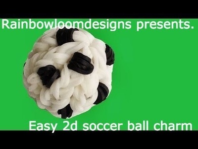 2d soccer ball | rainbow loom