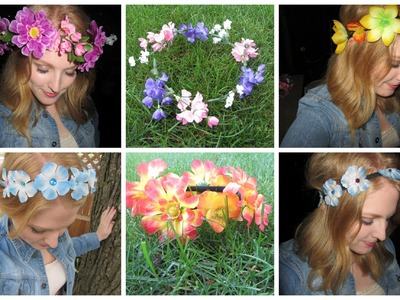❀ 6 DIY Flower Headbands ❀