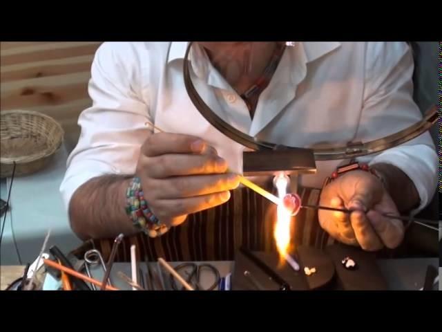 Artistic  Cabochon Glass Beads , Rankoussi , BEAD SHOP ROME ®