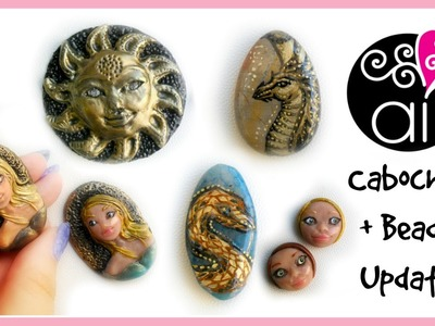 Cabochon & Beads Update   Polymer Clay   Painted Stones   Resin   1°