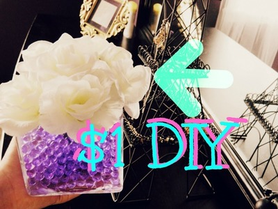 DIY: $1 Room Decoration Idea (CHEAP+EASY) Flower Vase