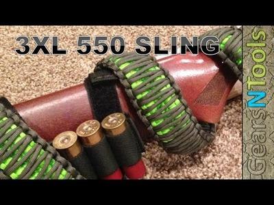 DIY 3XL 550 Triple Cobra Weave Gun Sling Shotgun. Rifle How to Step by Step Instructions