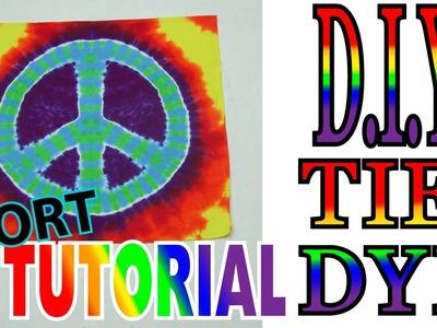 DIY: Peace Sign Tie Dye [Short Tutorial]