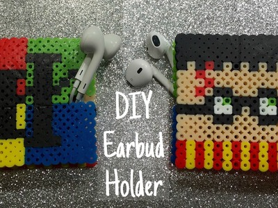 DIY perler bead earbud holder! (Harry Potter inspired)