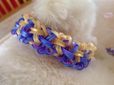 Even Weavin' bracelet tutorial (hook only) rainbow loom bands