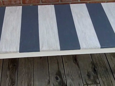 EZ Distressed Beach Style Coffee Table Project