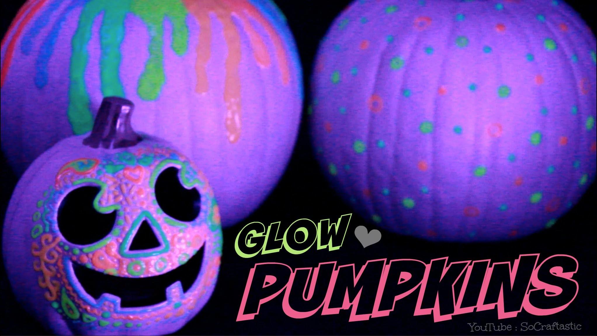 GLOW IN THE DARK PUMPKIN - Halloween DIY - Easy No Carve Pumpkins How To