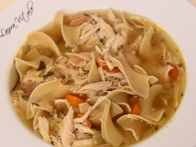 Homemade Chicken Noodle Soup Recipe - Laura Vitale - Laura in the Kitchen Episode 463