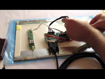 How to Connect Raspberry Pi to a Laptop LCD Panel via LVDS.LCD Controller Board