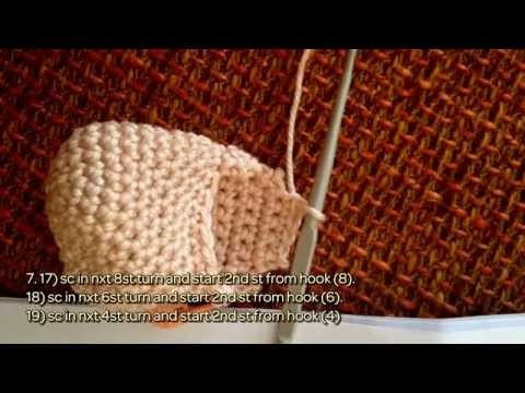 How To Crochet Beautiful Leg For Your Doll - DIY Crafts Tutorial - Guidecentral