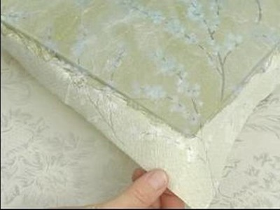 How To Decoupage : How To Decoupage A Platter: Gluing The Edges