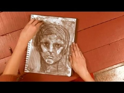 How to Draw a Portrait With a Charcoal Pencil : How to Draw With Charcoal