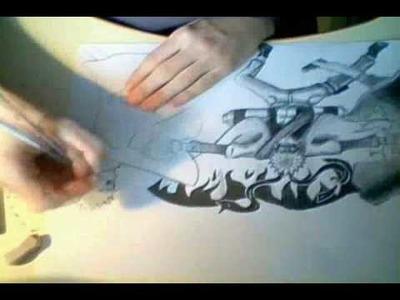 How to Draw Naruto Sage Mode - Double Rasengan