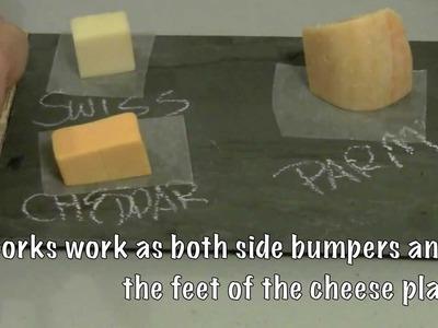 How to make a chalkboard slate cheese plate