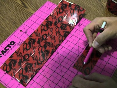 How to make a Duct tape Quad-fold wallet!