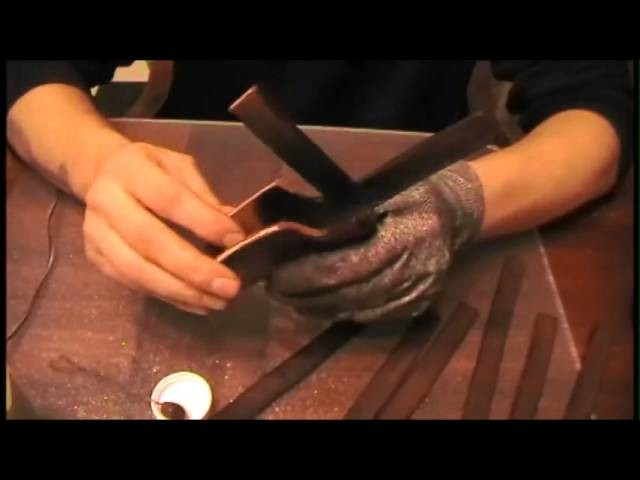 How to make a leather sheath part 2