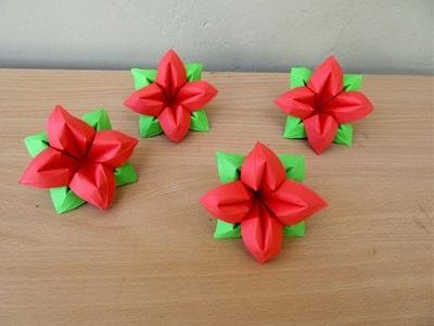 How to Make a Paper Flower (4 Petals) - Easy Tutorials