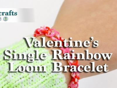 How to Make a Valentine's Single Rainbow Loom Bracelet