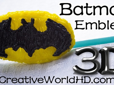 How to Make Batman Logo - 3D Printing Pen Creations.Scribbler DIY Tutorial