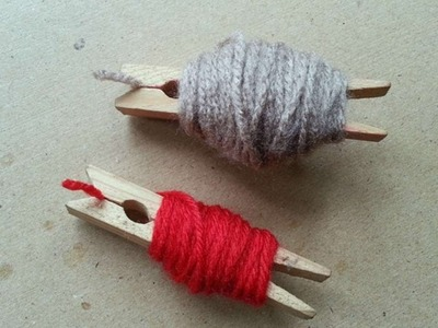How To Make Clothespin Yarn Spool - DIY Crafts Tutorial - Guidecentral