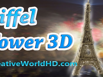 How to Make Eiffel Tower - 3D Printing Pen Creations.Scribbler DIY Tutorial