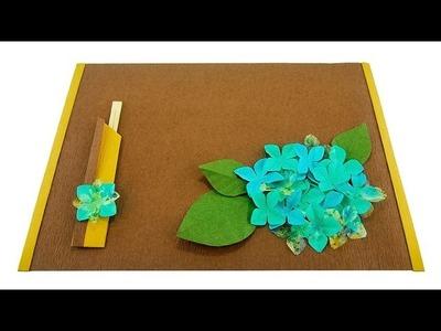 Hydrangea Placemat with Decorative Chopsticks Holder