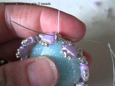 Incastonare un cabo in resina con perle Kheops e O beads