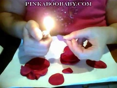 Lets Make Fabric Mini Rose Blooms and Curly Lollipop Flowers