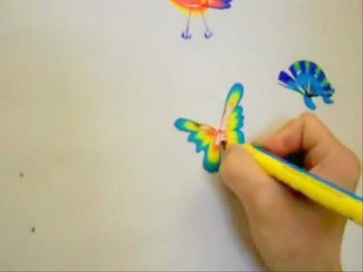 Rainbow Art Butterfly in a minute by using RainbowBrush®